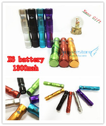 Wholesale Kamry X6 - Original Kamry X6 Lava Tube VV E Cigarette Battery X6 1300mAh High Capacity Battery Fit all eGo 510 thread ce4 mt3 x8 clearomizer