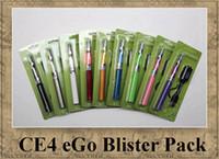 dampf-kit clearomizer großhandel-EGO Kit CE4 BLISTER PACK Einzelner Stamm 1.6ml Zerstäuber Elektronische Zigarette 650mah 900mah 1100mah bunte Batterie clearomizer Dampf DHL