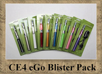 Wholesale Metal Stems - EGO kit CE4 BLISTER PACK Single Stem 1.6ml Atomizer Electronic Cigarette 650mah 900mah 1100mah colourful battery clearomizer vapor DHL