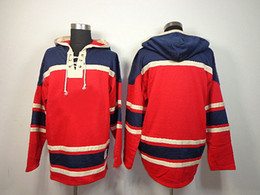 Wholesale Newest Style Mens Hoodies - Capitals Blank Style Ice Hockey Hoodies Mens High Quality Athletic Jackets Brand Warm Hockey Wears for Winter Newest Stylish Hockey Jackets