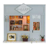 muebles musicales al por mayor-Madera DIY hecho a mano Auto-Ensamble de muñecas Mini Casa 13511 - GALERÍA