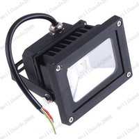 Wholesale Ir Floodlight Outdoor - RGB Led Floodlight 10W Outdoor Hight Power Landscape Flood light Color Changing + IR Control 85-265V MYY7672