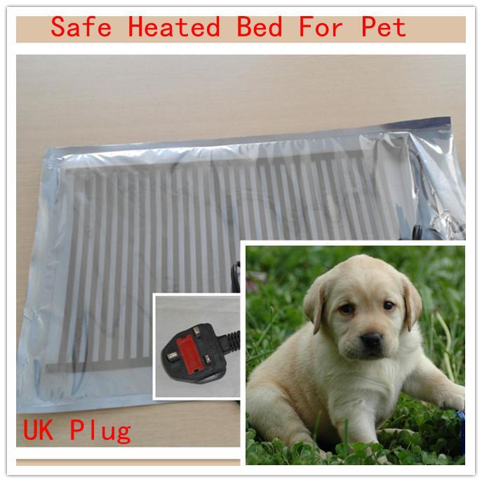 Wtyczka UK Safe Heated Pad Łóżko Ogrzewacza 20 W Dla Pet Dog Cat 30x40cm Wysokiej jakości 50 sztuk