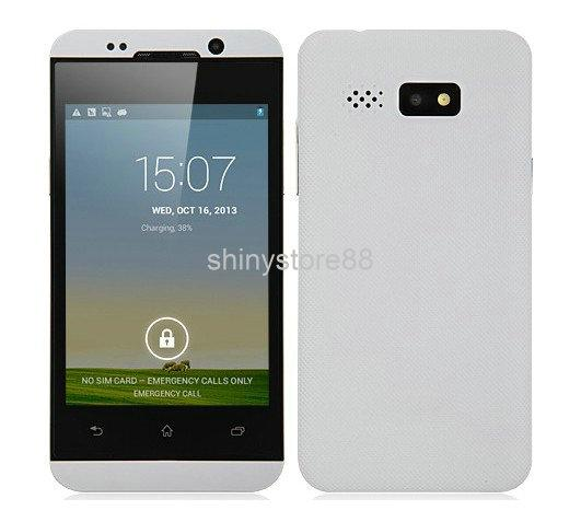 HTM H80W Z10 Dual Core Android Phone, MTK6572W Android 4.2 ROM 1G RAM 512MB Multi Screen 1.3GHz 3G GPS Dual Camera Dual SIM WIFI