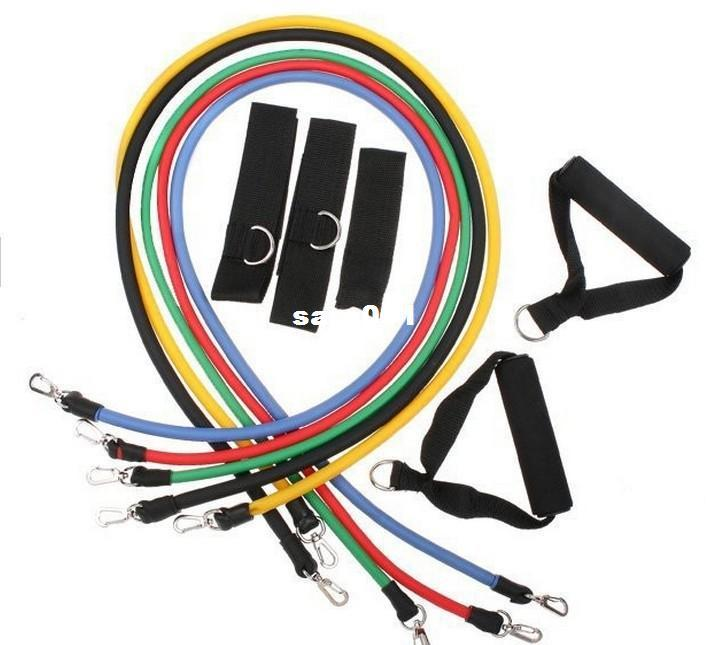 in Fitness Resistance Bands Exercise Tubes Practical Elastic Training Rope Yoga Pull Rope Pilates Workout Cordages