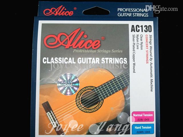 Alice AC130 Sert Gerginlik Naylon Klasik Gitar dizeleri Mükemmel Temizle Naylon Strings Ücretsiz Kargo Toptan