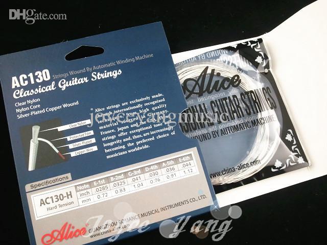 Alice AC130 duro Tensión Nylon Cuerdas para guitarra clásica Cuerdas Excelente Clear Nylon ventas al por mayor envío gratuito