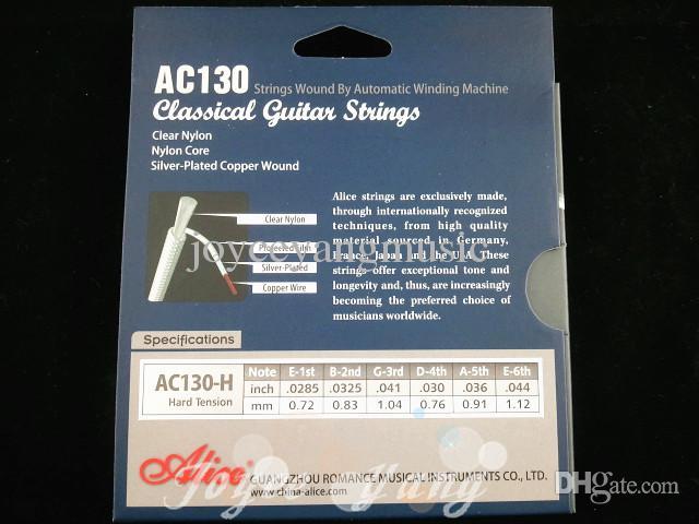 アリスAC130ハードテンションナイロンクラシックギターストリング優れたクリアナイロン文字列卸売送料無料