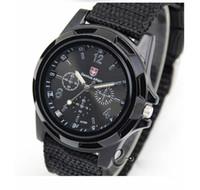 армейские наручные часы оптовых-Рождественский подарок для мужчин швейцарские военные часы 4 Цвет военный пилот армии ткань ремешок спортивные часы DHL Бесплатная доставка