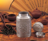 Wholesale Tin Tea Sets - Tinwares malaysia tin cans tea set tea caddy Large canister commercial gift