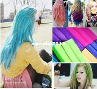 Wholesale Hair Dye Pastel Colours - Wholesale - 12 COLORS HAIR CHALK TEMPORARY HAIR COLOUR DYE DIY SALON KIT SOFT PASTEL CHALKS 1BOXES  LOT [ CL0047