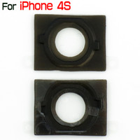 Wholesale Home Button Gasket Iphone 4s - For iPhone 4S Home Button Rubber Gasket Replacement Part Navigator Holder For iPhone4S By China Post