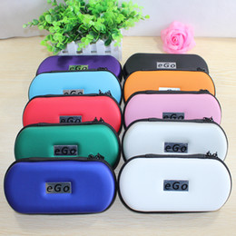 Wholesale Ego Portable Leather Case - Ego Zipper case L M S Size Ego Box Ego Bag for Electronic Cigarette ego ce4 ce5 Kits e cigarette portable case 10 Colors optional DHL Free