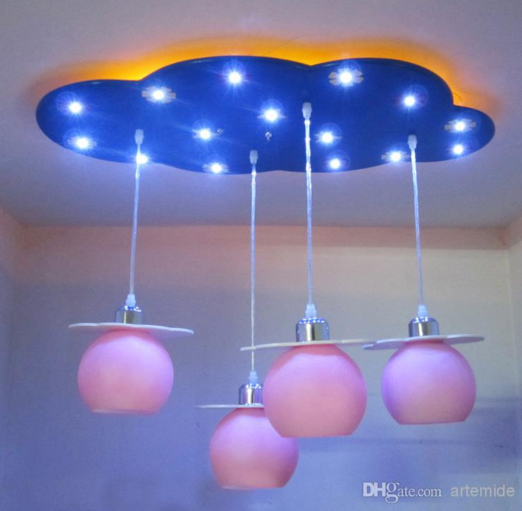Merry go round children led ceiling lights kids room decorate cartoon white clouds ceiling light child room pendant lights mozeypictures Images