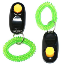 Wholesale Sports Training Aids - S5Q Pet Dog Training Aid Trainer Clicker Button Obedience Wrist Strap Agility Cat AAAARP