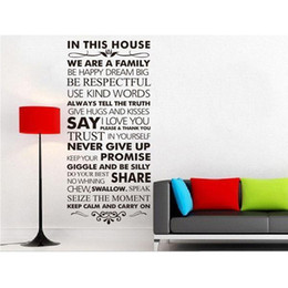 Wholesale Decals Wall House Rules - S5Q Never Give Up House Rules Quote Removable Wall Decal Stickers Art Home Decor AAACAH