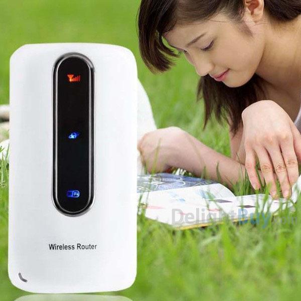 Unlocked 3G Wireless Routers Modem Mifi Wifi Hotspot wIth SIM Slot 3000mAh Portable Power Bank PK Huawei E5331