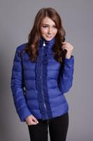 Wholesale Short Women S Down Jacket - Free shipping 2014 new style women's short coat real duck down coat Winter jacket