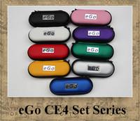 Wholesale E Cigarette Starter Set Zipper - eGo CE4 STARTER kit 1.6ml CE4 Atomizer colorful zipper case electronic cigarette set 650mAh 900mAh 1100mAh battery 2.4ohm Clearomizer e-cig