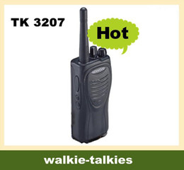 Wholesale Earphone One - DHL Free shipping One SET TK 3207 2 Way Radio Walkie Talkies TK3207 UHF 400 470MHZ 5W Radios + Earphone interphone intercom
