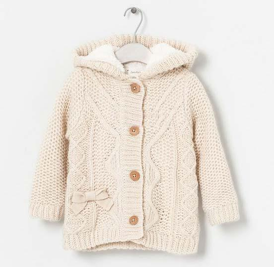Wholesale Hooded Cardigan Wool Sweaters Kids Clothes Long Sleeve ...