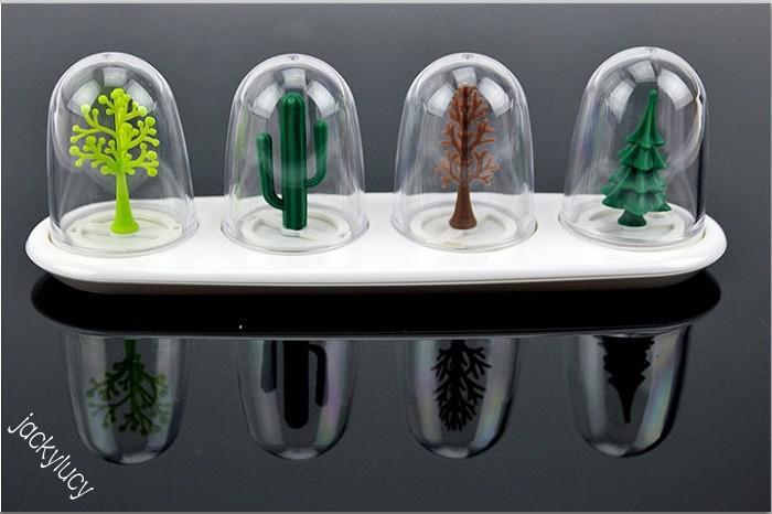 Stili di pianta divertenti di stagione di trasporto libero Stili di pepe di sale Agitatori di cucina Scatola di cassetta degli attrezzi di condimento