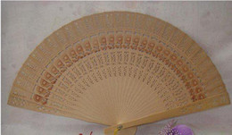 Wholesale Fragrance Vintage - Wood Fans Handmade Wood Hand Fans Vintage Japanese Chinese Folding Floral Wood Hand Fan Chinese Carved Folding Fragrance