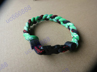 Wholesale Titanium Silicone Sports Bracelet - Wholesale - 3 ropes tornade Bracelet 3 Ropes Tornado Germanium Titanium Bracelet, sports x45 Athletes bracelet