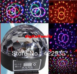 dmx controller di luce di fase Sconti Led 6 * 3W Canale DMX512 Controllo digitale LED RGB Crystal Magic Ball effetto luce DMX Disco DJ Stage Bulb