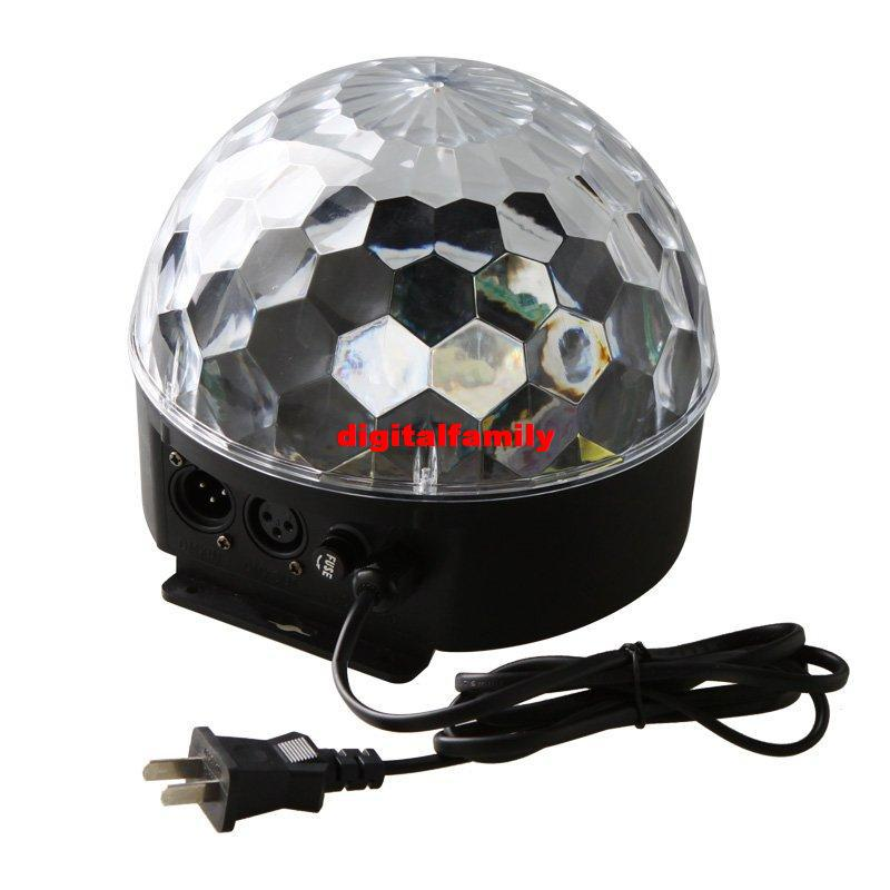6 Channel DMX512 Control Digital LED RGB Crystal Magic Ball Effect Light DMX Disco DJ Stage Lighting wholesale
