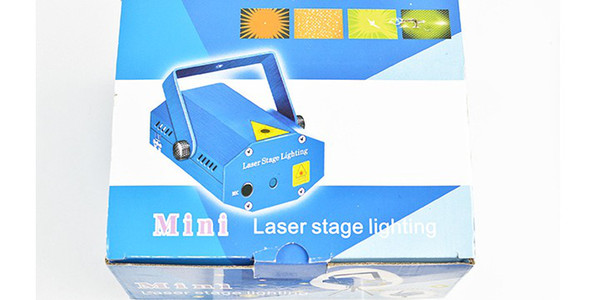 Mini Laser Stage Lighting Light Lights Starry Sky Red & Green LED R&G Projector indoor music DISCO DJ Party Christmas gift with box DHL