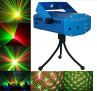 Wholesale Music R - DHL ship Mini Laser Stage Lighting Light Lights Starry Sky Red & Green LED R&G Projector indoor music DISCO DJ Party with box
