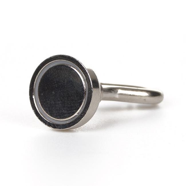 100 Pçs / lote 16mm Dia. Ganchos magnéticos, ímã de neodímio Suporte de chave para copos - cada um com capacidade para até 11 libras # BK016 @ SD