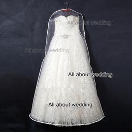 Wholesale Wholesale Quality Crystal Dresses - Transparent Clear Crystal Organza High Quality Dustproof Wedding Dress Storage Bag Dust Cover for Wedding Dress Shop