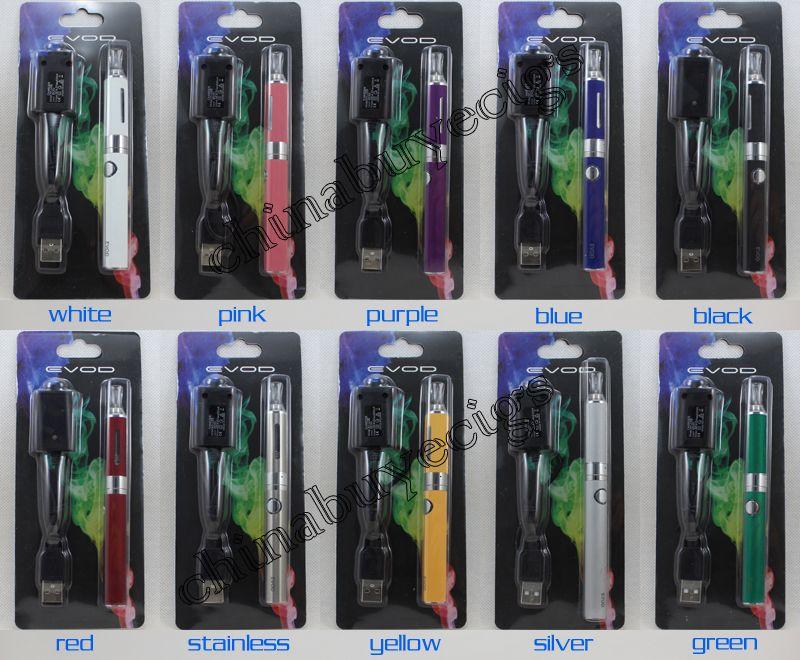 Top quality eVod BCC MT3 Starter Blister kits pack Electronic Cigarette mt3 Rechargable atomizer eVod Battery 650mah 900mah 1100mah DHL free