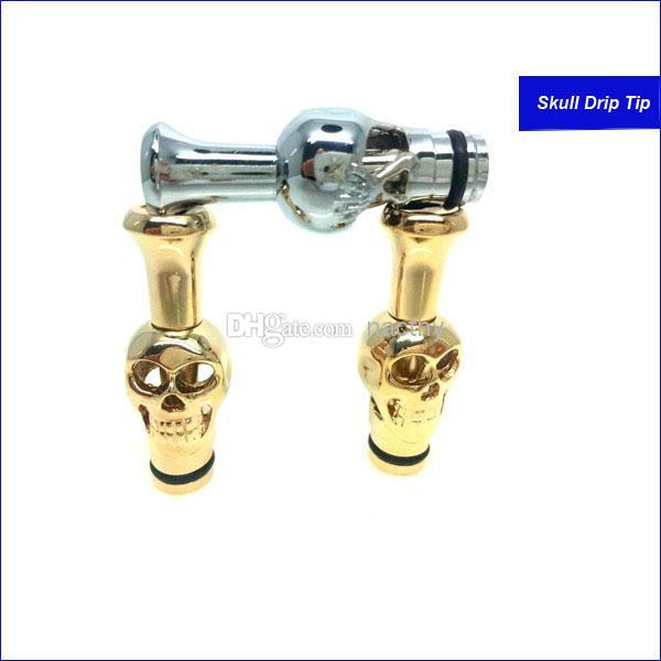 Hotselling metal Drip Tips Cabeça do crânio Drip tip Boquilhas de metal para CE4 CE5 CE6 Clearomizer VIVI Nova DCT2 Atomizador Cigarro Eletrônico