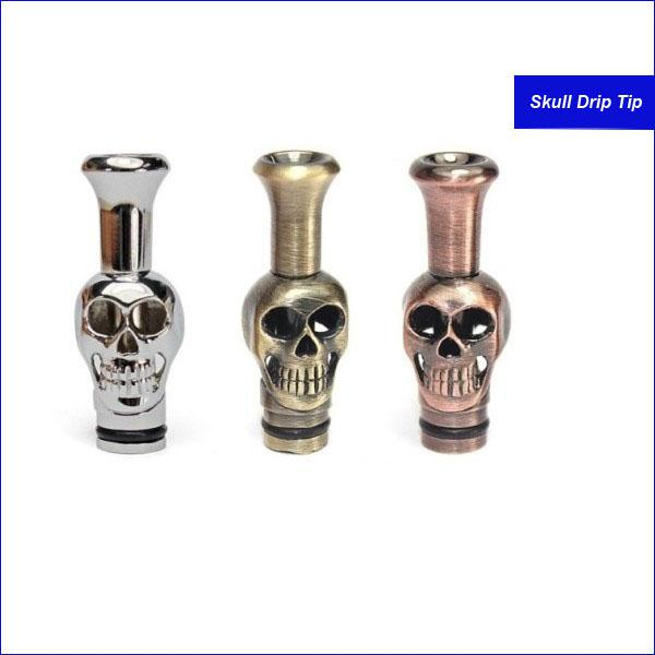 Hotselling metal Drip Tips Skull head Drip tip Metal Mouthpieces for CE4 CE5 CE6 Clearomizer VIVI Nova DCT2 Atomizer Electronic Cigarette
