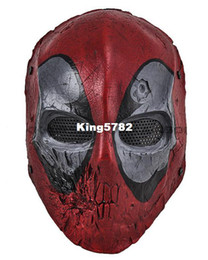 Wholesale Paintball Mesh Mask - Paintball Airsoft Wire Mesh Dead Pool Army of Two Full Face Mask Free shipping