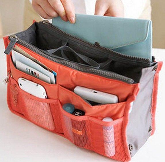 Bolso de maquillaje monedero Cosmético MP3 / Mp4 Organizador de almacenamiento de teléfono Bolsas diversas Cosméticos Bolsas Multi Dos Bolso de cremallera Precio de fábrica
