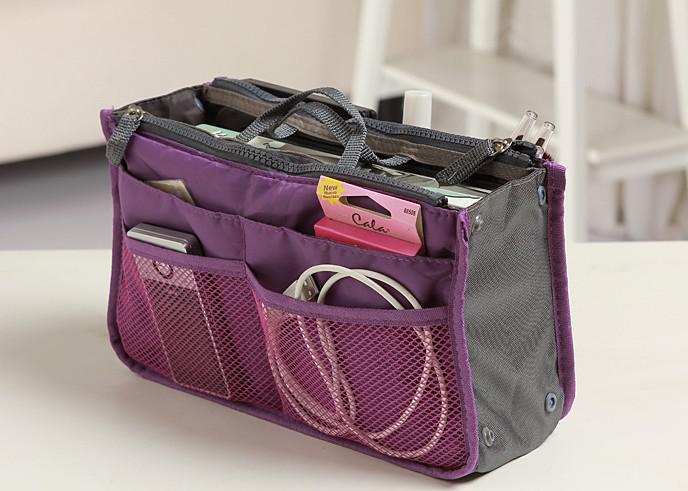 Kosmetiktasche-Geldbeutel-kosmetische MP3 / Mp4 Telefon-Speicher-Organisator-Verschiedenartigkeits-Beutel Kosmetik-Beutel-multi zwei Reißverschluss-Beutel