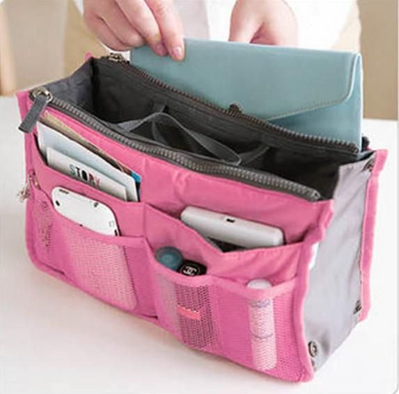 Makeup Bag Purse Cosmetic MP3/Mp4 Phone Storage Organizer Sundry Bags Cosmetics Bags Multi Two Zipper Bag Factory Price