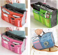 Wholesale Wholesale Purse Factories - Makeup Bag Purse Cosmetic MP3 Mp4 Phone Storage Organizer Sundry Bags Cosmetics Bags Multi Two Zipper Bag Factory Price
