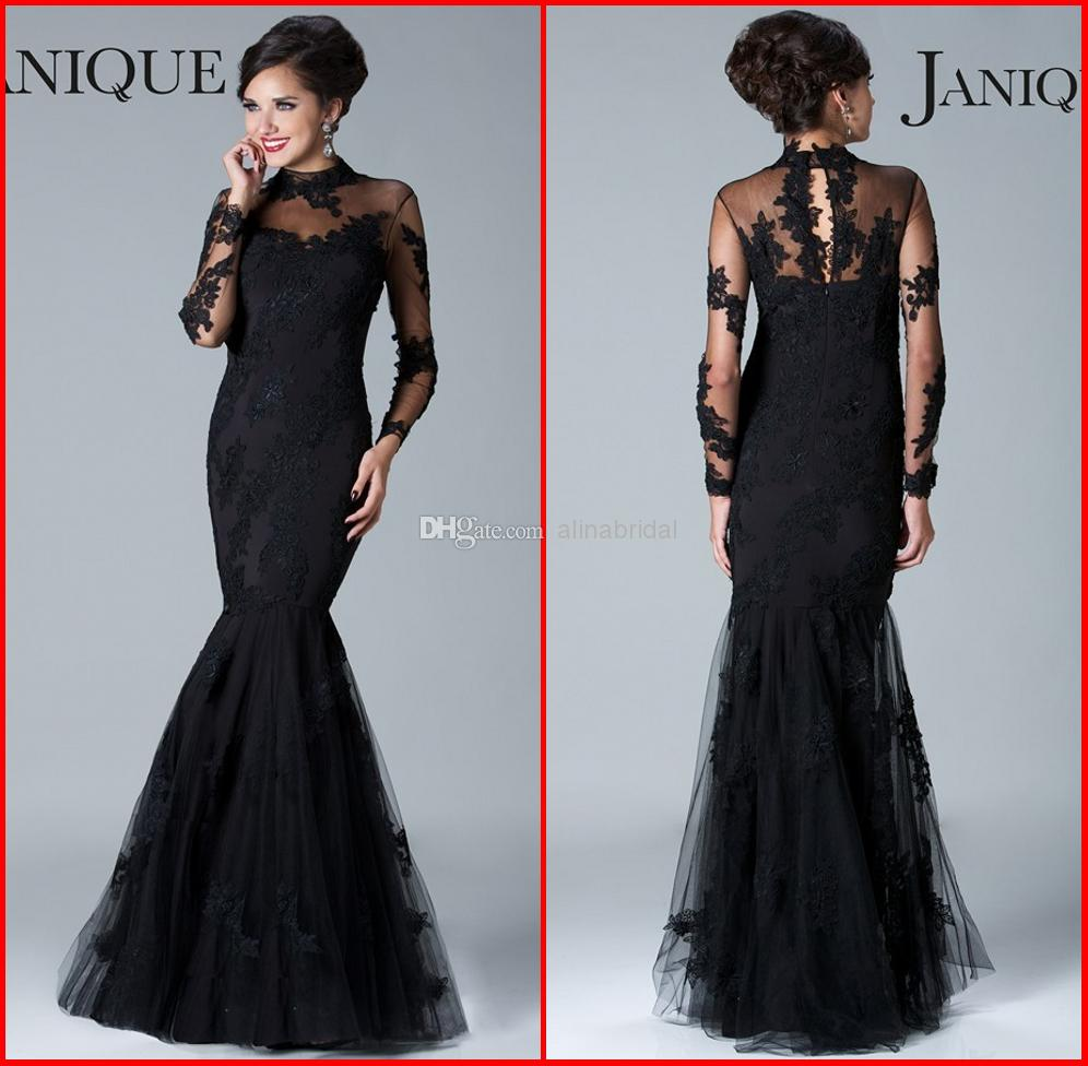 2015 High Neck Lace Mother Of The Bride Dresses Sheer Long Sleeves ...