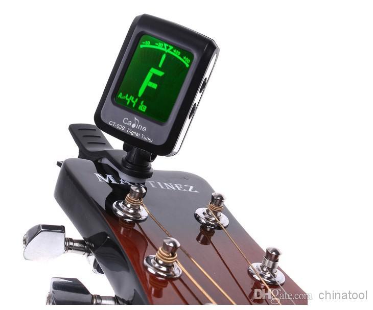 LCD Klipsli Elektronik Dijital Gitar Kromatik Bas Keman Ukulele Tuner I96