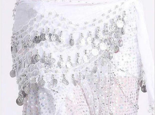 i 3 Righe 128 Monili Ventre Egitto Gonna antivento Sciarpa Wrap Belt Costume