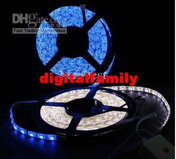 FEDEX Free RGB 5050 5M 300 SMD LED Strip lighting with 24 key IR Remote Control+ Power AB2054
