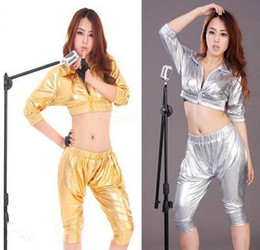 Discount women party clothing - Fashion Hot Party supplies Jazz dance clothes ds stage costumes HIP-HOP harem style fashion suit sexy nightclub clothing