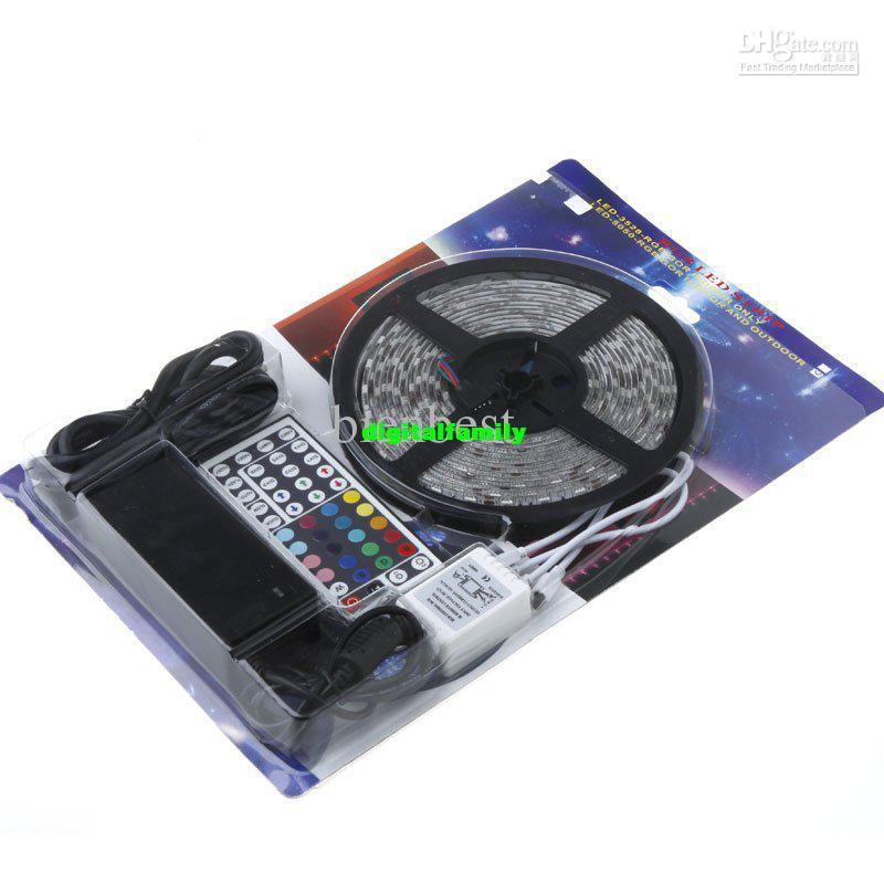 FEDEX Free Controller+ Power Supply IP65 Waterproof 300 LED 5M SMD5050 RGB LED Strip Light b0123