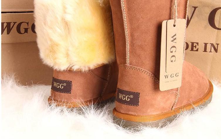 Бесплатная доставка высокое качество WGG женские классические высокие сапоги Женские сапоги загрузки снега сапоги зимние сапоги кожаные сапоги загрузки США размер 5---13