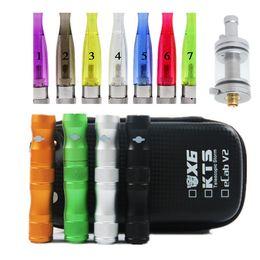 Wholesale E Cigarette X8 - New ego X6 E-cigarette kit Lava Tube 1300mAh battery Vaporizer Voltage GS-H2 atomizer or X8 atomizer Clearomizer E-cigarette kits DHL Free